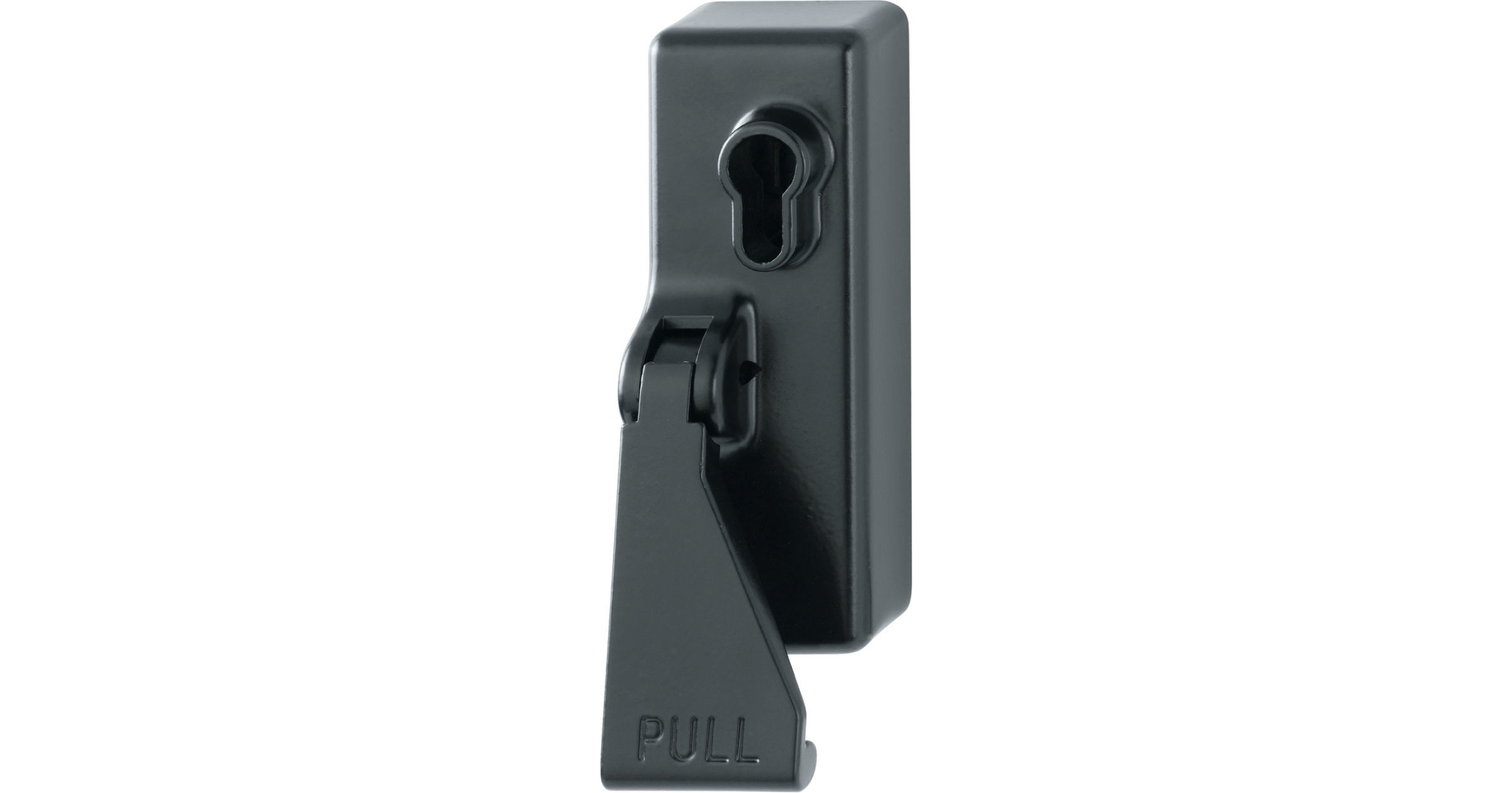 Black Panic-Bolt Eurolock + Pull-Handle - Hoppe® AR885-BL