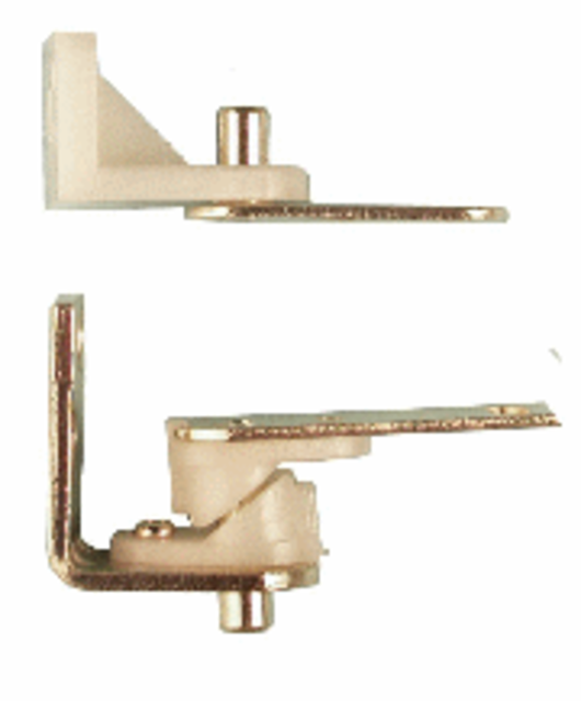 Cafe Door Hinges - with Hold Open Feature - Electro Brass