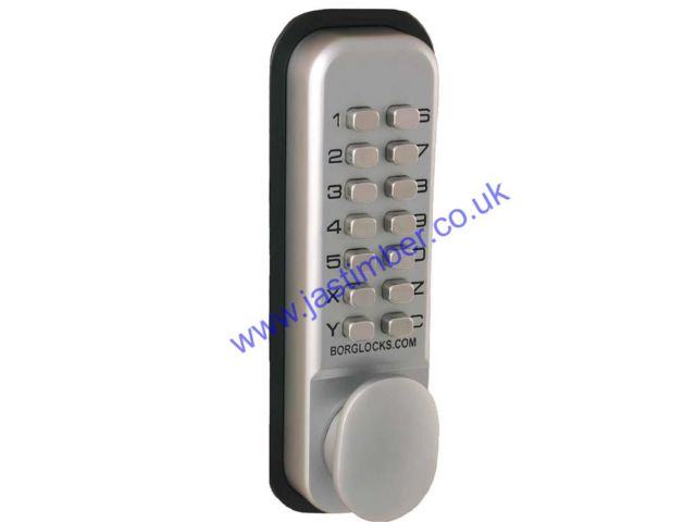 Digital Lock with Holdback + 60mm Latch - Borg 2201SC