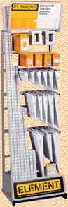 Element twin slot shelving