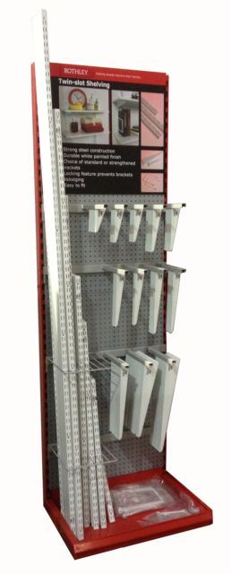 Slot Straight Bracket - Rothley Slot Shelving White