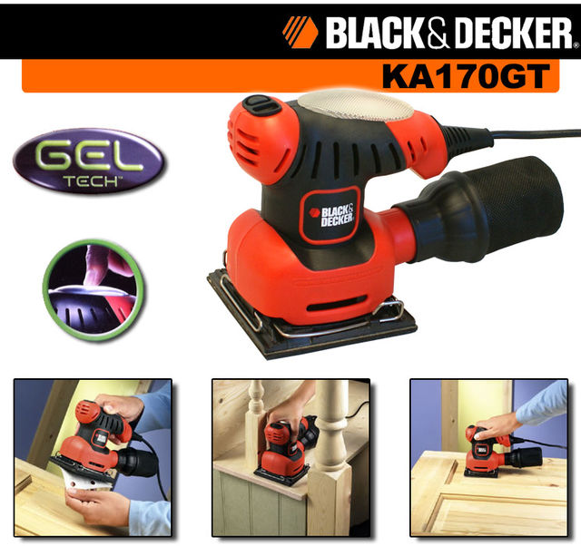 PALM SANDER 170 Watt - Old Stock still packed - BLACK & DECKER KA170GT