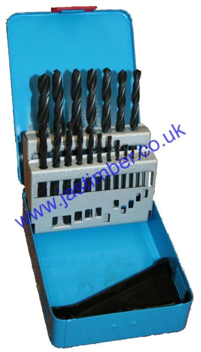 Drill Bit Set HSS Castle Tools - 19 pce Metric