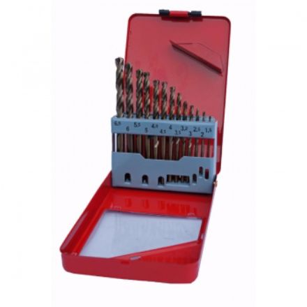 Cobalt Drill Bit Set >> Hss Cobalt Drill Bit Set In Metal Case 13 Piece 1 5mm To 6 5mm