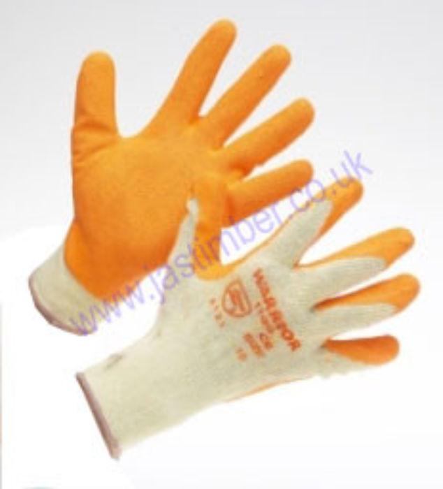 warrior orange-grip gloves