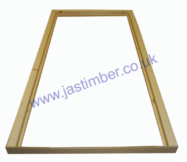Door Casing no Cill - Made to Size - ex 3x3 Softwood : assembled