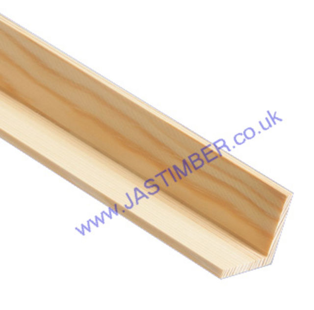 38mm Corner Bead : Square ( approx 32x32mm square x 2.4 metre ) Pine Moulding - JAS Workshop