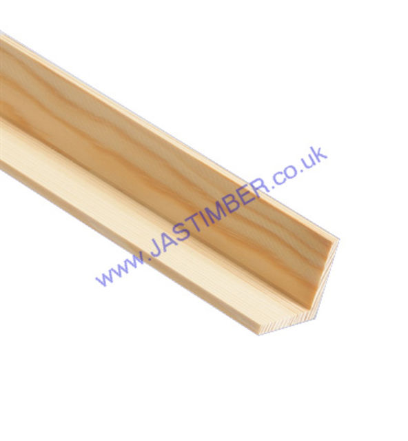 25mm Corner Bead : Square ( approx 20x20mm square x 2.4 metre ) Pine Moulding - JAS Workshop