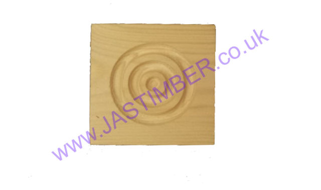 Corner Roundel - 85x85x19mm Square-Corner Door-Architrave Block