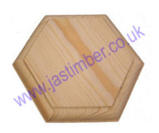 Pattress for Handrail Bracket - Pine Hexagonal Wall-Pattress
