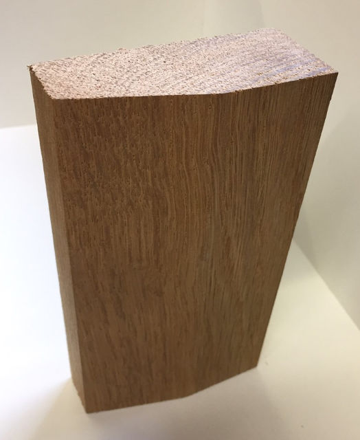 Oak Plinth Block - for Skirting Board to Architrave Joint - Select Size in Menu