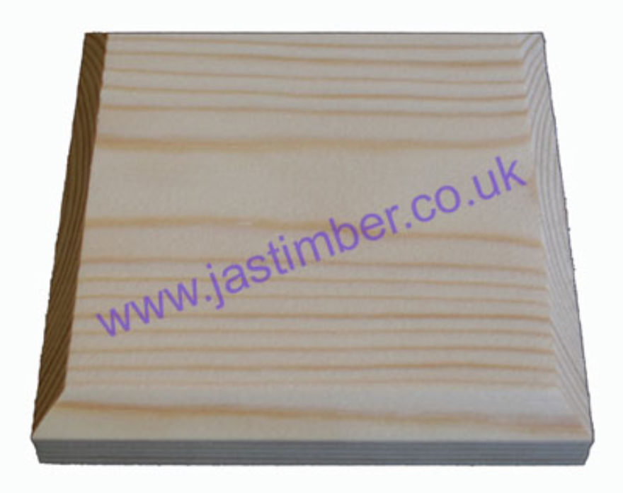 120mm Square Softwood Pattress