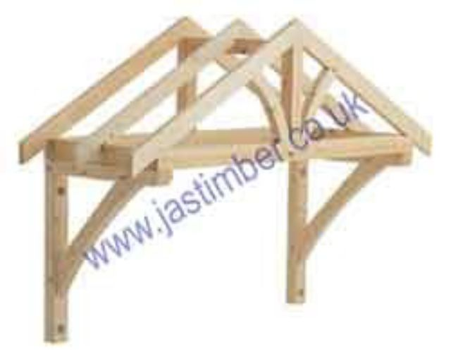 LC001 Softwood Porch Canopy - 1200mm Apex Canopy Kit