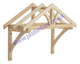 Photography of LC002 Softwood Porch Canopy KIT: 1600mm APEX PORCH CANOPY - Softwood
