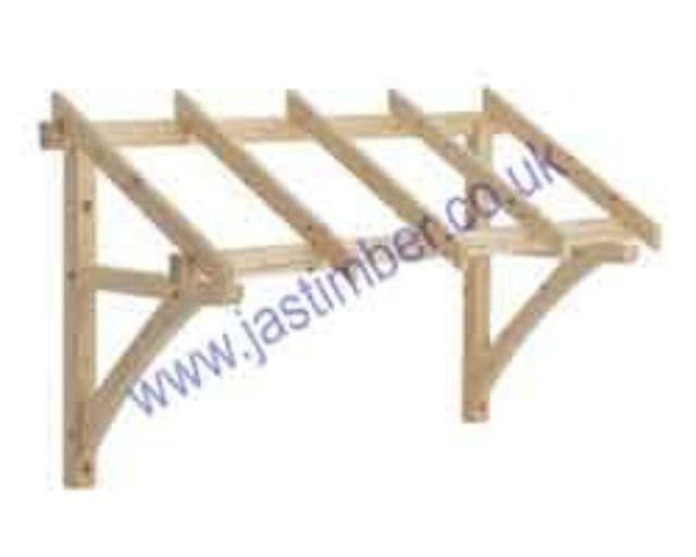 LC003 Softwood Porch Canopy : 1200-1600mm Flat Porch Canopy