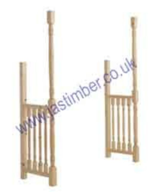 LC100 Timber Porch Canopy Turned Side-Rails 2400mm