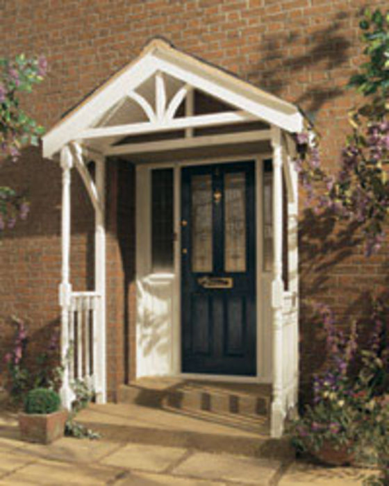 Self Assembly Timber Porch Canopies Available From Jas Timber