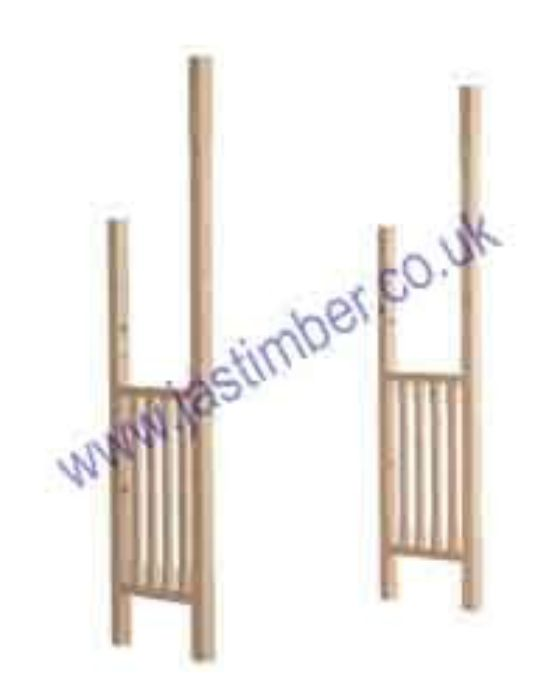 Timber Porch Canopy Chamfered Posts & Side-Rails