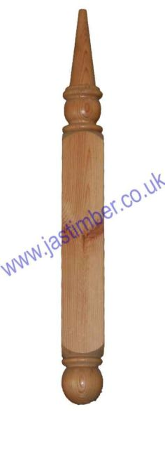 LC200 Softwood Porch Canopy Finial 690x72x72mm