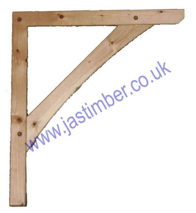 Pine Porch Canopy Gallows-Bracket - JAS Workshop