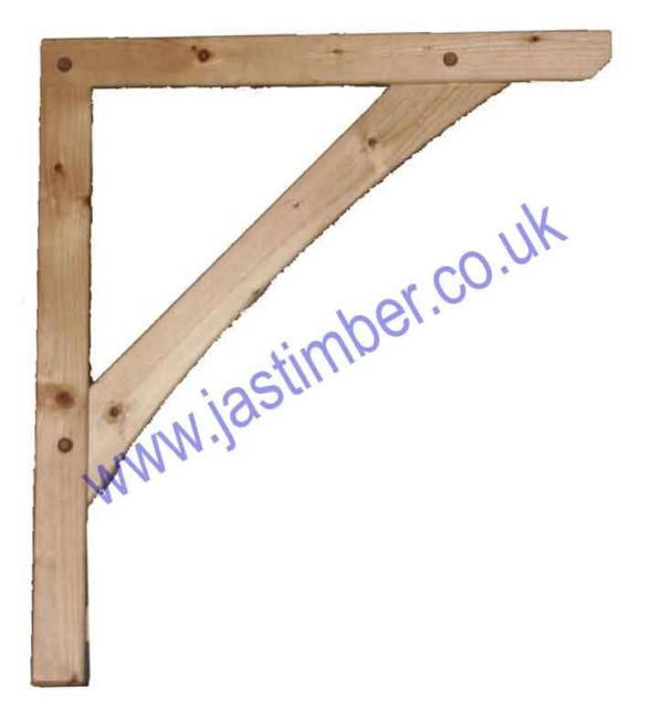 LC300 Softwood Porch Canopy Gallows Bracket 700x605mm ( single )