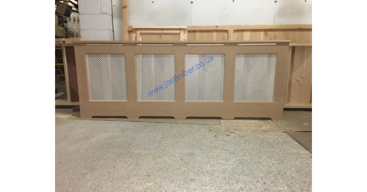 RADIATOR CABINET ITW made to size Pine or MDF frame & MDF Small Diamond Screen