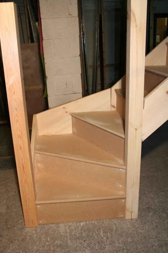 JAS Staircase with Kitewinder Closed Tread MDF