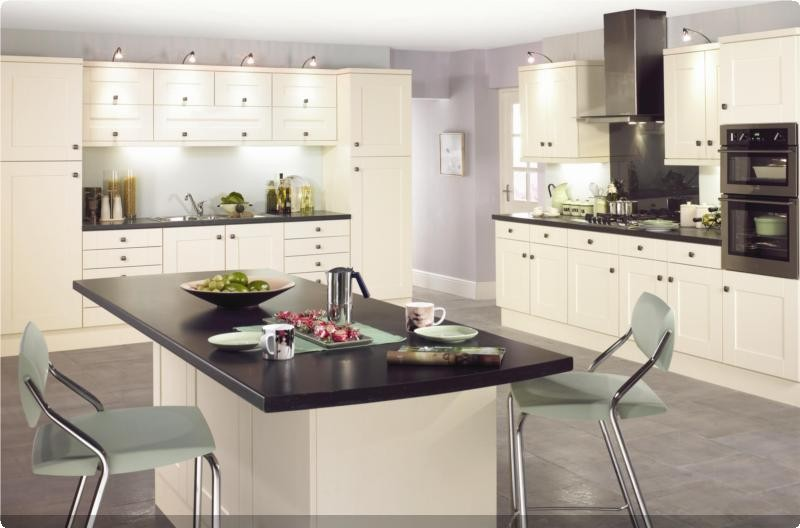 Eco kitchens fitted kitchen units for Cream kitchen carcasses