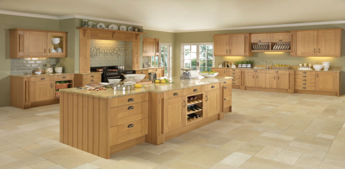 Pendle Kitchens Shaker Natural Oak