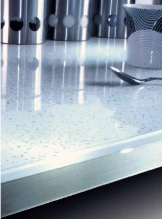 Arctic Sparkle - Metallic Gloss Worksurface