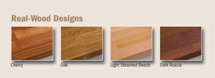Realwood Solid Timber Worktops - 4 timber types