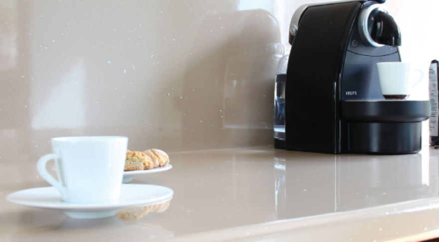 Macchiato Snow (Gloss/Metallic) Worktop