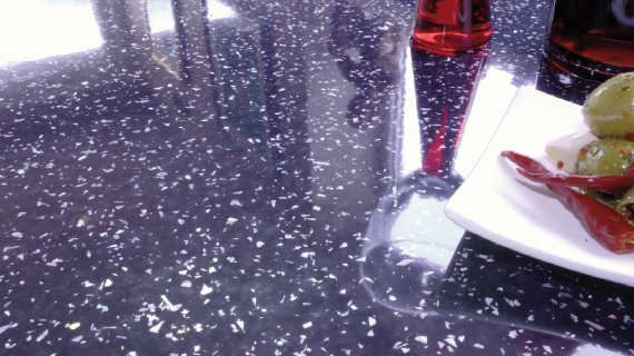 Night Ice (Gloss/Metallic) Worktop