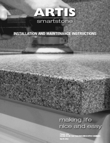 Artis Smartstone Fitting and Care Instructions