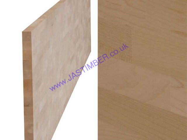 "Worktop - Maple ""Contract"" solid timber 4150x650x40mm"