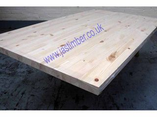"Photography of WORKTOP - Knotty PINE ""Contract"" Jointed-Board 2950x650x40mm Finger-Jointed"