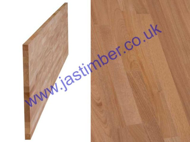 "Worktop - Sapele ""Contract"" Jointed-Board 4200x650x40mm Finger-Jointed"