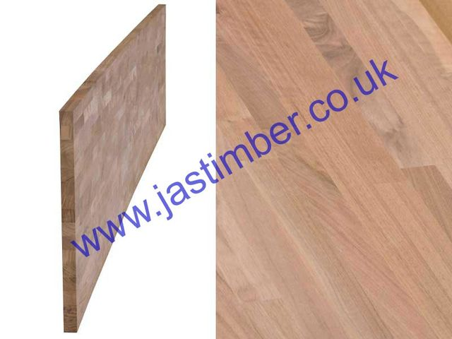 "Worktop - Walnut ""Contract"" solid timber 4200x650x40mm"