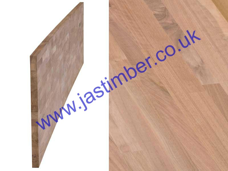 Solid BLACK WALNUT 40mm Kitchen Worktop - Contract 4200x650x40mm