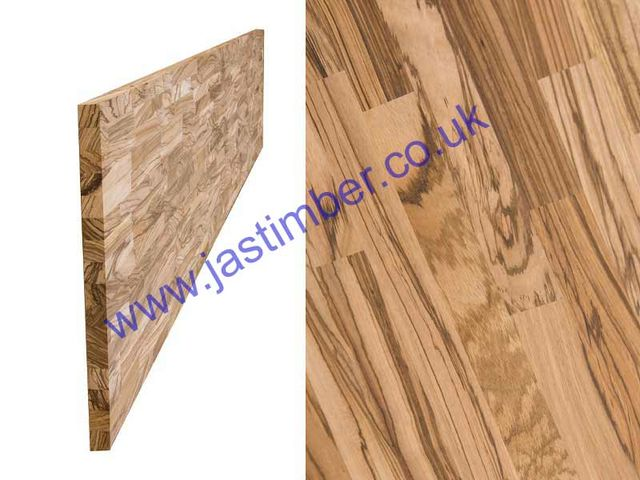 "Worktop - Zebrano ""Contract"" solid timber 4200x650x40mm"