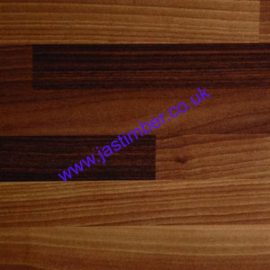 Polyrey Omega Worktop A017 Antique Blocked Walnut Ultramatt