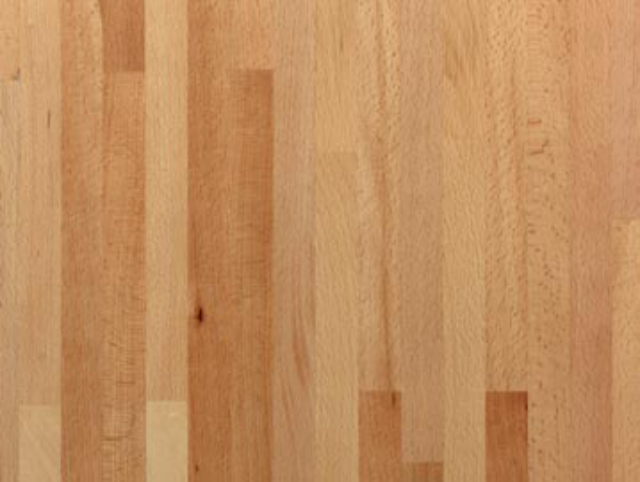 Worktop - 28mm Utility Beech Solid Timber Staves Pre-oiled - Burbidge Clearance Stock