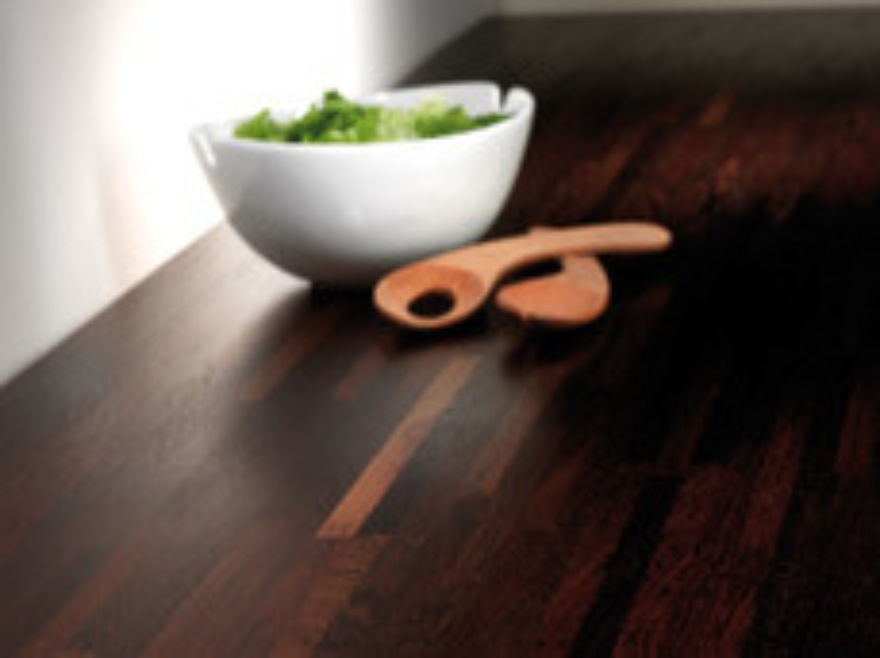 Tuscan Solid Wenge Kitchen Worktop - setting