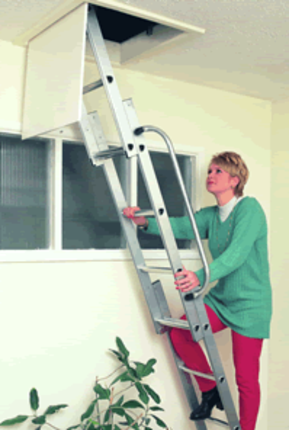 Loft Ladder 3 Section Aluminium