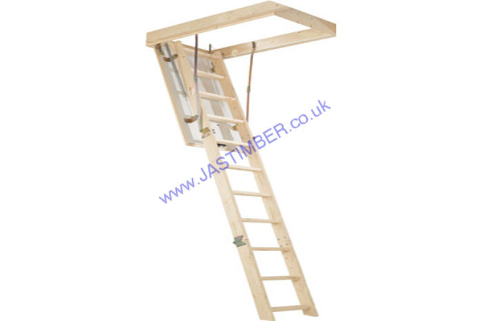 Timber Loft Ladder with Hatch