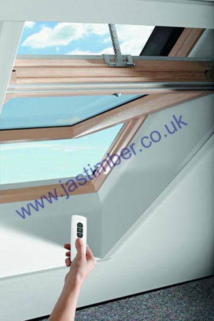 ROTRONIC Roof Window - R4 ROTO OAK Electric Opening - Centre Pivot