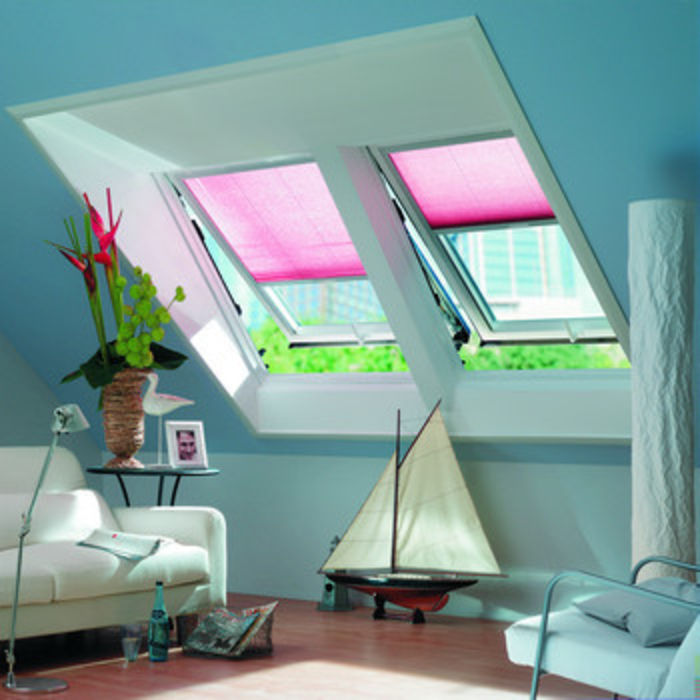 Roto WDF R8 PVC Roof Window 2 side-by-side inside