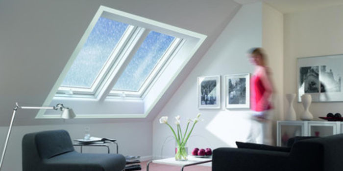 Roto Roof-Windows - 2 PVC R8 side-by-side