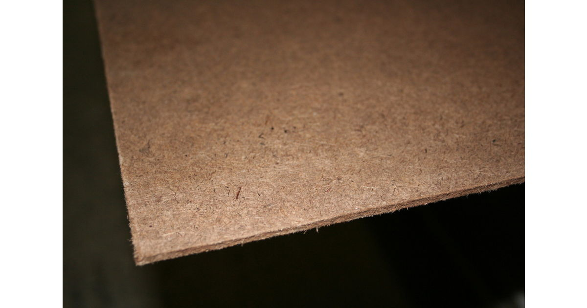 Hardboard mm natural brown sheet