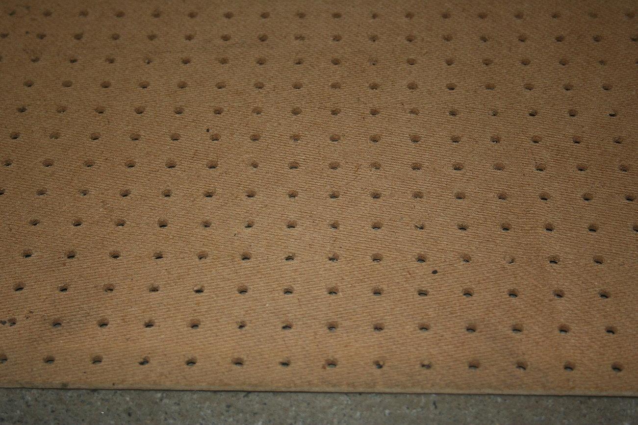 Pegboard sheet